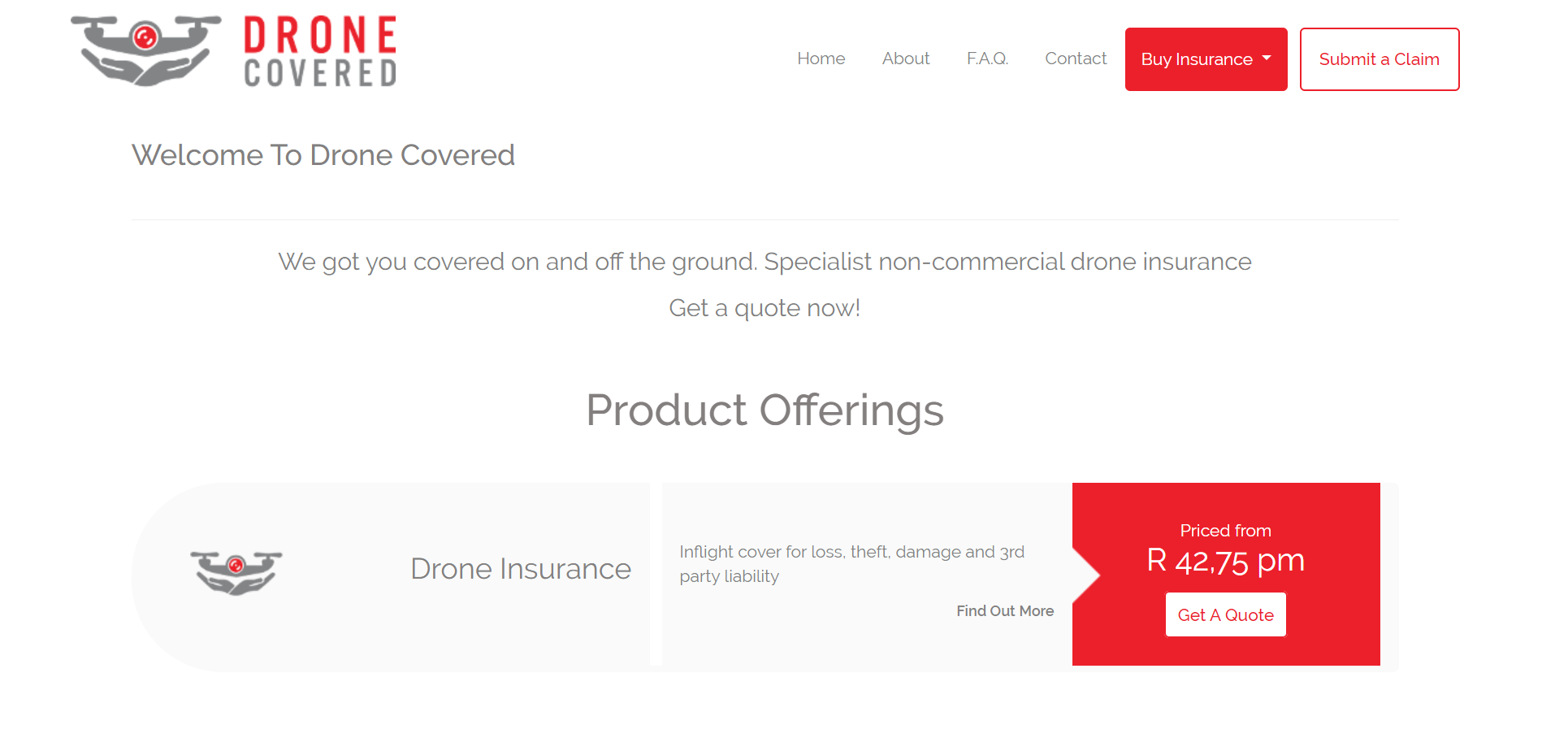 Drone insurace South Africa buy online